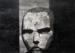 Jacks in Flammen stehende Enttuschung (Christian Haupt) Tags: art monochrome painting stencil kunst acryl sprayart malerei serigrafie