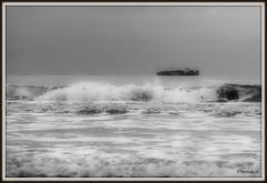 _JVA4647 (mrjean.eu) Tags: gris noir belgique noiretblanc knokke vagues nuance ambiance nuances borddemer heurebleue lumièredusoir