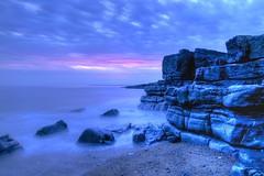 Sail away ladies (pauldunn52) Tags: pink blue sunset sea by cliffs ogmore