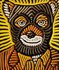 Mr. Fox (Lisa Brawn) Tags: wood portrait celebrity calgary art film illustration painting design graphics artist folkart canadian carving popart lifeaquatic alberta hollywood wesanderson darjeeling woodcut woodcarving woodblock brawn reclaimed royaltenenbaums salvaged upcycled fantasticmrfox lisabrawn grandbudapesthotel
