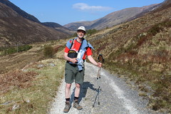 That's Me on the West Highland Way (Walruscharmer) Tags: me scotland track moi glen invernessshire trekkingpoles oldmilitaryroad nationaltrail mamorehills