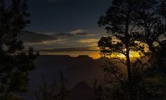 Sunrise from Yavapai viewpoint (John A. McCrae) Tags: arizona sky usa sunrise landscape nationalpark unitedstates pentax grandcanyon canyon pentaxk5 yavapaiviewpoint