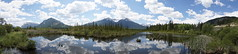 Vermillion Lakes Panoramic (ryan.kole32) Tags: travel trees panorama canada reflection nature beauty clouds forest landscape rockies outdoors nationalpark hiking sony bluesky panoramic alberta banff rockymountains mirrorimage banffnationalpark canadianrockies banffalberta beautyinnature sonya77