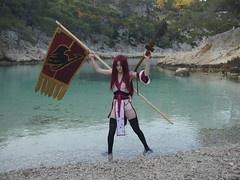 Shooting Erza Scarlet - Fairy Tail - Port Pin -2016-07-02- P1430753 (styeb) Tags: shooting shoot erzascarlet fairytail 2016 juillet 02 port pin calanque cassis cosplay portpin