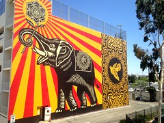 WeHo (dave87912) Tags: losangeles la california socal sunny holiday breeze blue sky summer weho westhollywood santamonica pacificdesigncenter parking murales