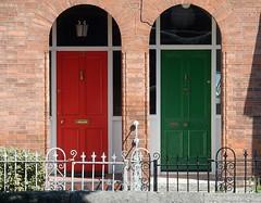 Red and Green Doors (mikecogh) Tags: red dublin green doors painted custom doorways entrances