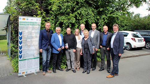 Besuch der Ammerland-Allianz  für Bildung und Qualifizierung bei der KVHS in Westerstede.