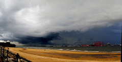 Bad weather clouds (sab89) Tags: new cloud storm beach nature rain weather clouds liverpool river brighton bad it worst mersey wirral