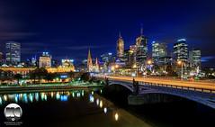 Melbourne CBD Morning Blue (kenneth chin) Tags: city blue yahoo google twilight nikon australia melbourne victoria cbd nikkor yarrariver d810 1424f28g princebridge1888