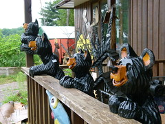 Bear Paws (Toats Master) Tags: wood art woodwork gallery bears chainsaw carving