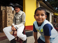 Little boy with the cowboy! (BenoitDemers) Tags: boy casual child cute elderly face family fun generation grandfather grandparent grandson happy joy kid little man mature old portrait senior smile smiling together two young guatemala cowboy cambodge