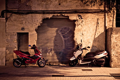 A Breakthrough in Motoring (speedmatters) Tags: street city tourism night spain village traffic spanish mallorca vacations baleares motoring