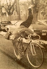 David Steed  artistic cyclist  1982 (ddsiple) Tags: cycling 1982 acrobatics fixed trackbike davidsteed