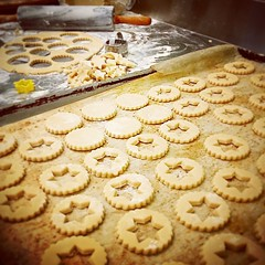 """Mini Linzer Cookies A buttery cookie filled with jam. #PunchBowl #LinzerCookie #Baking #Bakery #Butter #Homestyle #HamOnt #Sugar #Jam #Foodies #Luxury #Cookies #Linzer #Sweets #ShopLocal #goodfoodmatters • <a style=""""font-size:0.8em;"""" href=""""http://www.flickr.com/photos/129307582@N07/15589434288/"""" target=""""_blank"""">View on Flickr</a>"""