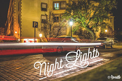 Night Lights (evaruizp) Tags: love car night typography lights luces noche design halo run coche type diseo versatile selfie tipografa fugaz grpahic