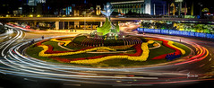 Shanghai Street Circle (mars.was.here) Tags: ocean china city longexposure travel flowers original light sunset mars night movement cityscape shanghai circles destination nightphoto streetscape bund lightstreaks shanghaibund cityonthesea streetcircle marswashere