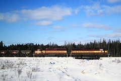 Back Down Memory Lane (view2share) Tags: railroad trees winter snow cold abandoned wisconsin forest train iron track 2000 transport tracks rail railway rr trains wc swamp transportation rails february snowfall idle wi freight taconite railroaders railroads wetland northwoods minorca ironore eastbound freighttrain wisconsincentral rhinelander sd45 railroading february2000 emd freightcars northernwisconsin ironrange escanaba freightcar rring trackage electromotivedivision fallenflag oniedacounty ironorepellets 20cylinder wc6503 wc6613 february52000 shepardlakecreek