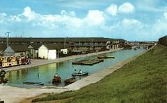 Butlins Skegness - Boating Lake (trainsandstuff) Tags: vintage postcard retro butlins archival boatinglake skegness holidaycamp lincs