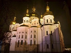 A view of Uspensky Cathedral in Kiev Pechersk Lavra (Elena Penkova) Tags: church architecture nightimages view cathedral ukraine nightlight kiev kyiv orthodoxy kievpechersklavra uspenskycathedral elenapenkova