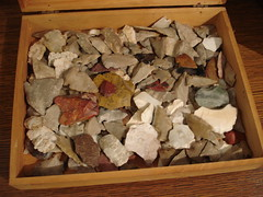 "BOX FULL OF ARROWHEAD BIRD POINTS • <a style=""font-size:0.8em;"" href=""http://www.flickr.com/photos/51721355@N02/15866797027/"" target=""_blank"">View on Flickr</a>"
