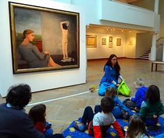 Children at the museum (jackfre2) Tags: brussels art museum children belgium paintings exhibition educational toddlers ixelles delvaux pauldelvaux educatingchildren musedixelles exhibitionpauldelvaux
