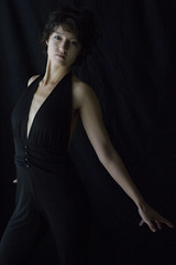 Madeline (austinspace) Tags: portrait woman studio washington spokane naturallight brunette alienbees