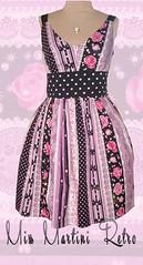 Kawaii Borders print dress (MissMartiniCorsetry) Tags: roses summer dress lavender kawaii frock missmartinicorsets