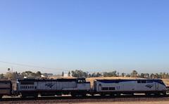 Amtrak Locomotive 518 on Southwest Chief (hupspring) Tags: train diesel traintracks engine loco amtrak locomotive southerncalifornia orangecounty anaheim placentia genesis traintrack dash8 passengertrain southwestchief p42 amtk dash832bwh b328wh amtk518 amtk17 bnsfsanbernardinosub