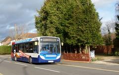 Route 3s at Ash Vale station (bobsmithgl100) Tags: bus surrey alexander dennis apu ashvale route3 gx13 enviro200 36912 frimleyroad stagecoachhantssurrey gx13apu