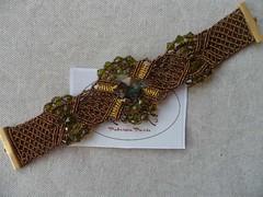Bracciale Chestnut con swarovski (patty macram) Tags: bijoux accessori bracciali macram micromacram macramgioielli macramlavori