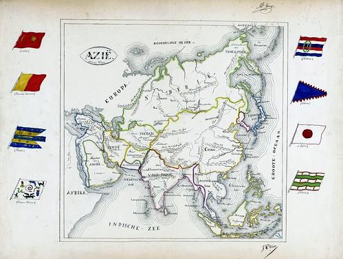 Kaart van Azië
