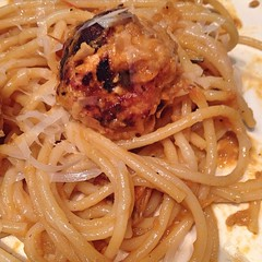"Spaghetti and Mozzarella Stuffed Meatballs were a huge hit at our family table tonight. I hope that your dinner was as delicious as ours was! • <a style=""font-size:0.8em;"" href=""http://www.flickr.com/photos/54958436@N05/16106510115/"" target=""_blank"">View on Flickr</a>"