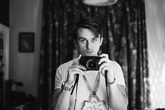 new camera (gorbot.) Tags: blackandwhite home mirror fujifilm lightroom reflectedselfportrait iso6400 xpro1 xtrans vscofilm