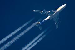 Atlas Air Boeing 747-48EF N419MC (Thames Air) Tags: atlas air boeing 74748ef n419mc contrails telescope dobsonian overhead vapour trail