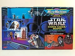 Galoob  Micro Machines  Star Wars  Darth Vader / Bespin Transforming Action Set  Box Art (My Toy Museum) Tags: set star play action head darth micro wars vader machines transforming diorama bespin galoob