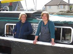 Bumble & Monica (chessieboater) Tags: scotland puffer vic32