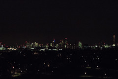 Primrose Hill - Night (iam.josh) Tags: park city london skyline night landscape stpauls olympic canarywharf lighttrail