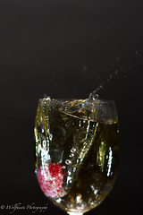 Raspberry & Ginger Ale 22 (Wolfhunte Photography) Tags: glass led raspberry splash gingerale greybackground 20160522
