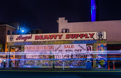 angel beauty supply (pbo31) Tags: california city urban black color art beauty sign night dark graffiti oakland nikon mural closed traffic sale may business uptown bayarea eastbay economy alamedacounty telegraphavenue supply marked 2016 lightstream closeout boury pbo31 d810 angei
