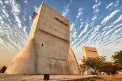 TOWERS OF BARZAN (Ziad Hunesh) Tags: sunset sky building architecture canon outdoor towers tokina hdr qatar قطر آثار 650d برزان 1116mm zhunesh barazn