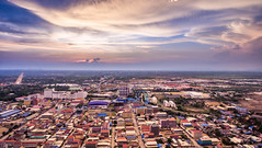 Poipet Aerialscape (Piaklim) Tags: city sky cloud landscape town cambodia aerial kh drone phantom4 dji banteaymeanchey krongpoipet