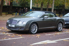 Bentley Continental GTC Speed (D's Carspotting) Tags: london speed grey united continental kingdom bentley gtc 33e 20101029
