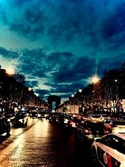 A Night in Paris (Hannah_Murray) Tags: road paris cars night de champs lise