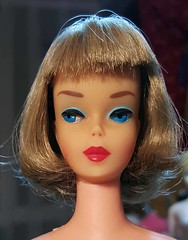New girl - pink skin s/l American Girl Barbie (Pania Cope) Tags: color girl vintage mod magic barbie skipper before american restore restoration after swirl ponytail tnt midge tlc sidepart bubblecut