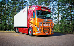 mikaelnilsson-volvofh4-highway-topbar_9521 (truxab) Tags: red orange highway naranja rd trux topbar lacquered a162 g164 mikaelnilsson lackerad volvofh4globxl truxab