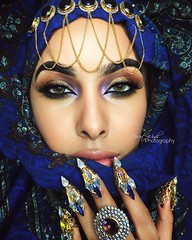 The Crypt (eset is) Tags: africa blue scarf photography bahrain pattern desert uae hijab makeup jewelry morocco yemen arabian saudiarabia qatar middleeastern