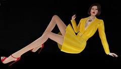 42. Saffron (AnnaG Pfeffer) Tags: jacket necklace annagpfeffer kunglers elysium murray iconic secondlife girls fashionblog fashionsl