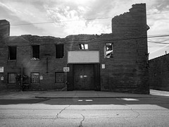 Rockwell-044403 (RickG1) Tags: chicago river blackwhite industrial belmont rockwell elston