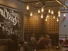 Starbucks Reflected (Renee Rendler-Kaplan) Tags: lighting morning people reflection june canon lights sitting indoors starbucks sit inside lit seated consumerist chicagoist 2016 chicagoreader peoplesitting evanstonillinois reneerendlerkaplan canonpowershotsx530hs starbucksreflected