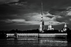 Peter and Paul fortress at night (St. Petersburg, Russia), 07-2012, 2 (Vlad Meytin, vladsm.com) (Vlad Meytin | Instagram: vmwelt) Tags: pictures nightphotography blue sky blackandwhite water yellow night reflections stpetersburg photography russia citylights nights nightscene neva waterreflections nightcity stpetersburgrussia artpictures nightriver khimporiumco meytin vladmeytin vladsm vladsmcom